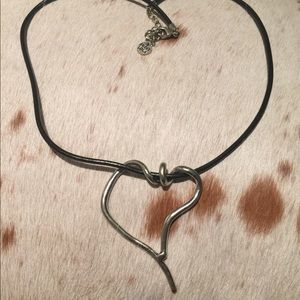Jewelry - Arty Silver tone Heart Necklace